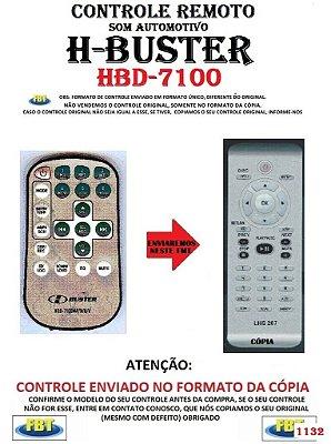 Controle Remoto Compatível para Som Automotivo H-BUSTER HBD 7100