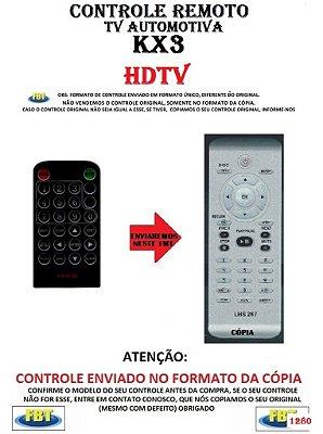 Controle Remoto Compatível - para TV AUTOMOTIVA KX3 HDTV