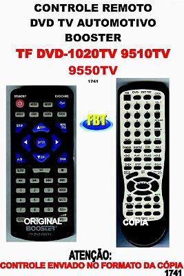 Controle Remoto Compatível para DVD/TV BOOSTER DVD-1020 TV / 9510 TV / 9550 TV