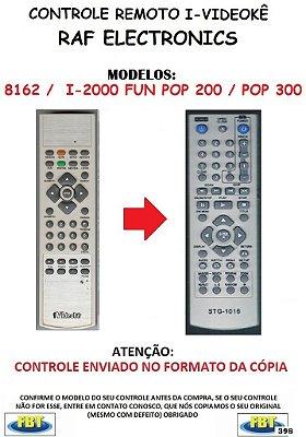 Controle Remoto Compatível - para I-Videokê RAF ELECTRONICS I-2000 FUN POP 200 / POP 300