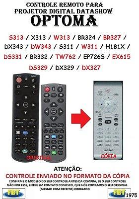 Controle Remoto Compatível - para Projetor Optoma S313 X313 BR324 BR327 DX343 DW343 S311 W311 H181X DS332 TW762 EP726S EX615 DS329DX327