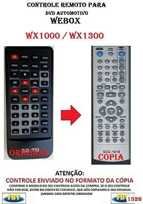 Controle Remoto Compatível - para DVD Digital Automotivo WEBOX WX1000 / WX1300