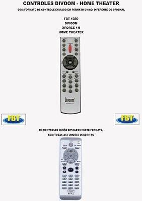 Controle Remoto Compatível - Home THEATER DIVOON  XFORCE 1H