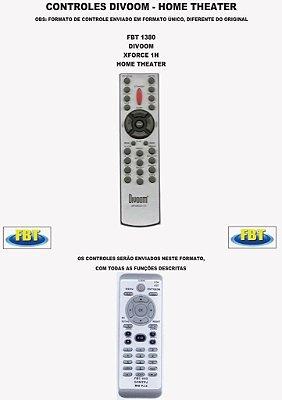 Controle Remoto Compatível - para Home THEATER DIVOON XFORCE 1H