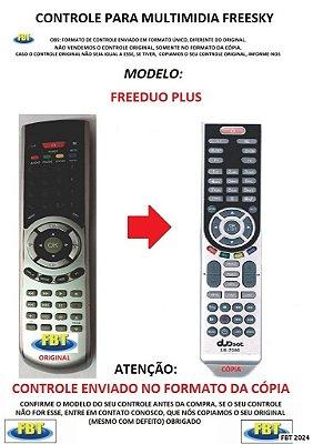 Controle Remoto Compatível para RECEPTOR DE TV Digital FREESKY FREENDUO / FREENDUO + PLUS