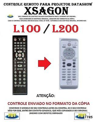 Controle Remoto Compatível - para Projetor DATASHOW XSAGON L100 L200