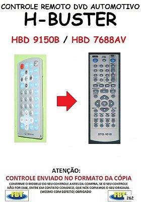 Controle Remoto Compatível - para DVD Automotivo H-BUSTER HBD 9150B / HBD 7688 AV