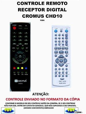 Controle Remoto Compatível RECEPTOR DE TV Digital CROMUS CHD10