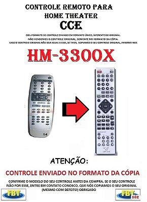 Controle Remoto Compatível - para Home THEATER CCE HM-3300X