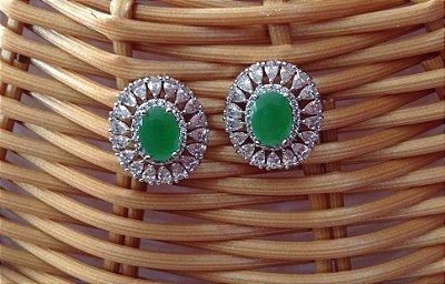 Brinco Semi Jóia Mandala - Verde