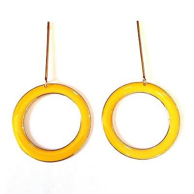 Brinco Círculo Amarelo