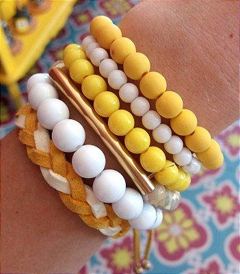 Mix de Pulseiras Amarelo