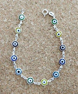 Pulseira Prata 925 - Olho Grego