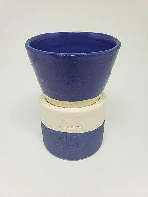 Xícara Cone Azul 100ml