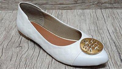 Sapatilha Branca - Bico Fino  - Ref 018