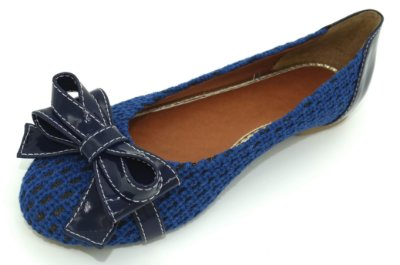 Sapatilha croche Azul - Ref 016