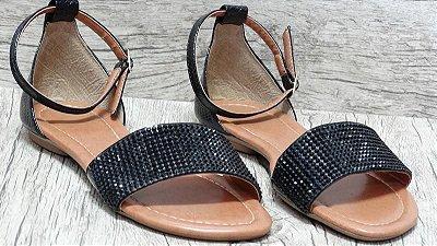 Sandália (rasteira) Preta - Ref 027