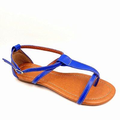 59 - Sandália (rasteira) Azul - Ref 124