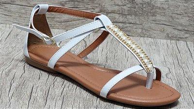 Sandália (rasteira) Branca - Ref 124