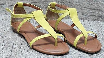 Sandália (rasteira) Amarela - Ref 124