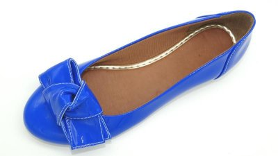 Sapatilha em verniz Azul - Ref 001