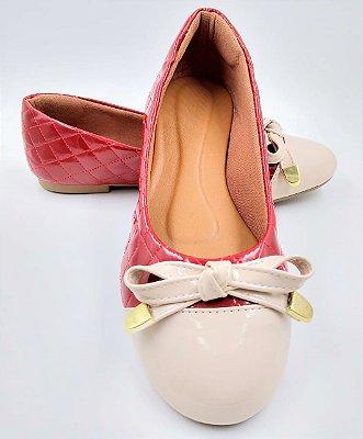 sapatilha-bico redondo-vermelha\off white