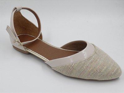 Sapatilha Salomé tecido off whty-detalhe vz