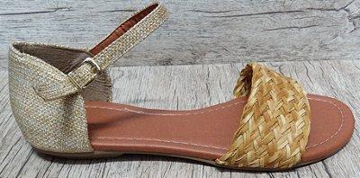 Sandália (rasteira) Cru  - Ref 600