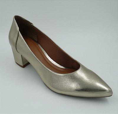 Scarpin Ouro Ligth - Salto Grosso - Ref 134