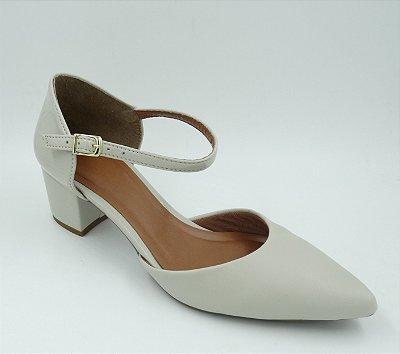 Sapato - Gelo - Bico Fino -Salto Grosso -