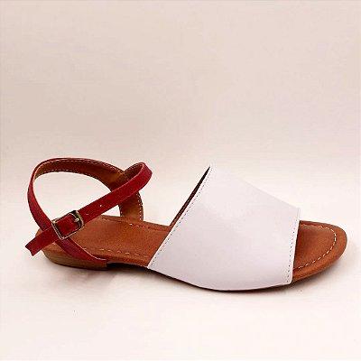 164 - Avarca Confort - branca-vermelho