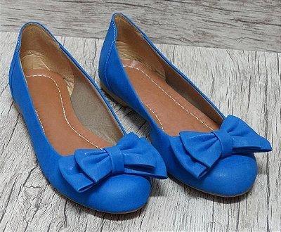 Sapatilha azul de laço - Ref 003