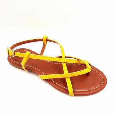 37 - Sandália (rasteira) Amarela - Ref 117