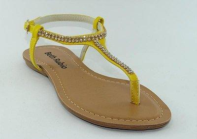 Sandália (rasteira) Amarela - Ref 121