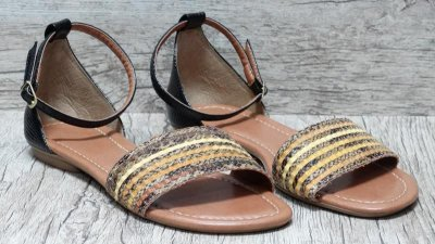 Sandália (rasteira) Preto - Ref 027