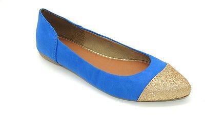 Sapatilha Bico Fino - Azul Bic - Ref 007