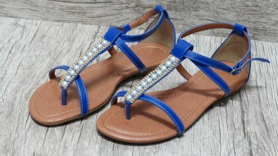 Sandália (rasteira) Azul - Ref 124