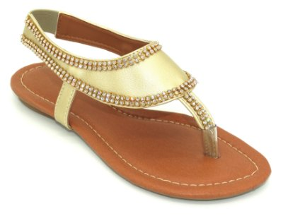 Sandália (rasteira) Dourada - Ref 023