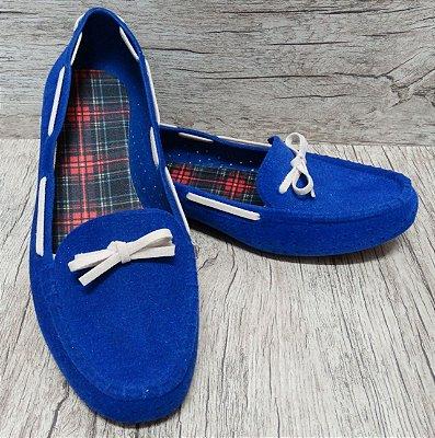 Mocassim Confort Azul