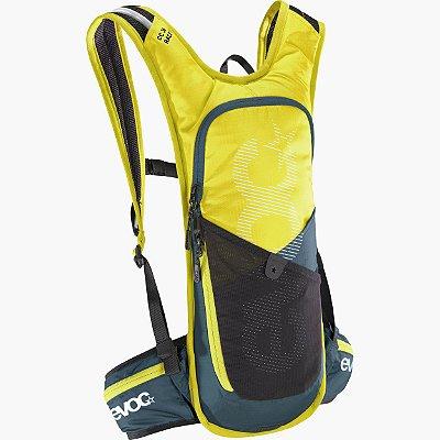Mochila Evoc CC Race 3L + Bolsa Hidratação 2L Amarela