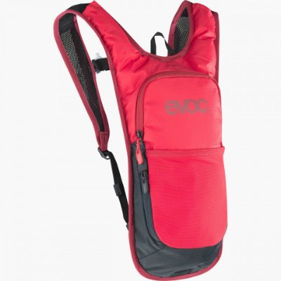 Mochila Evoc CC 2L + Bolsa Hidratação 2L Vermelha