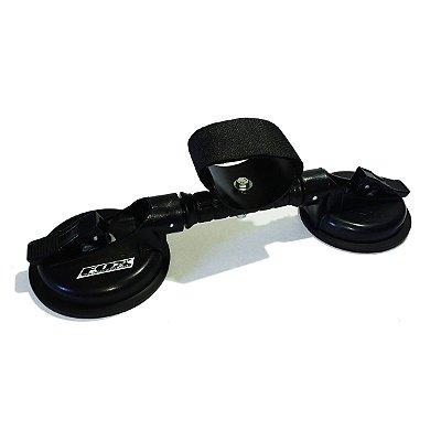 Suporte de ventosas dupla para roda traseira com calha