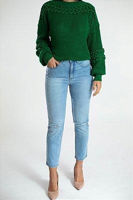 Calça Jeans Reta Cropped - Boa Vista