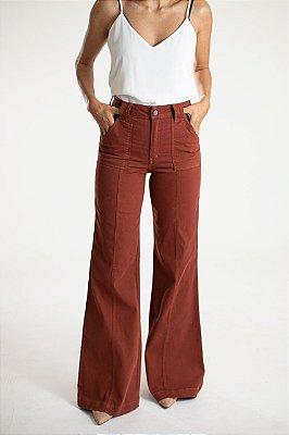 Calça Pantalona Cotelê Terra - Cusco