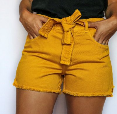 Shorts Sarja Mostarda - Drente - Santé Denim
