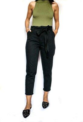 Calça Jeans Mom Preta Estonada - Edmonton - Santé Denim