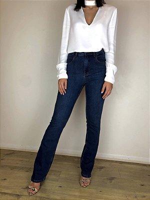 Calça Jeans Boot Cut - Quebec Blue - Santé Denim
