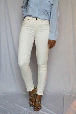 Calça Skinny Sarja Off White -  Victoria - Santé Denim