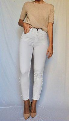 Calça Sarja Skinny Branca - Malmo - Santé Denim