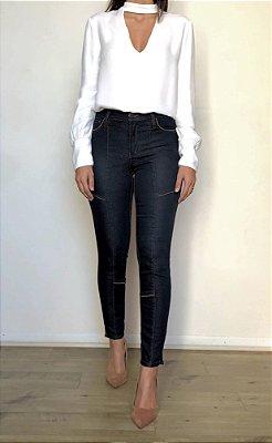 Calça Jeans Skinny Recortes - Montreux - Santé Denim